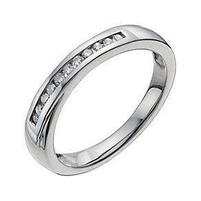 Palladium 950 12 point diamond crossover ring - Product number 9944796
