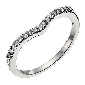 Palladium 950 15 point diamond shaped ring - Product number 9945199