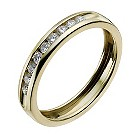 9ct yellow gold quarter carat diamond eternity ring - Product number 9946829