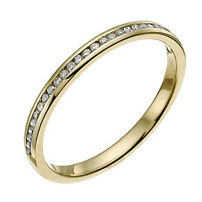 18ct yellow gold 10 point diamond channel set ring - Product number 9946969