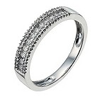 9ct white gold quarter carat diamond ring - Product number 9947213