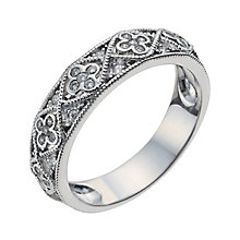 18ct white gold 15 point diamond vintage ring - Product number 9948015