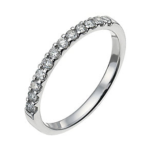 18ct white gold quarter carat eternity ring - Product number 9948155