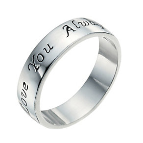 Sterling Silver Love You Always Ring Size L - Product number 9948805