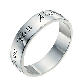 Sterling Silver Love You Always Ring Size N - Product number 9948813