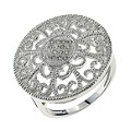 Sterling Silver & Cubic Zirconia Round Ring Size N - Product number 9949011