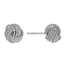 Sterling Silver 10mm Fancy Knot Stud Earrings - Product number 9949100