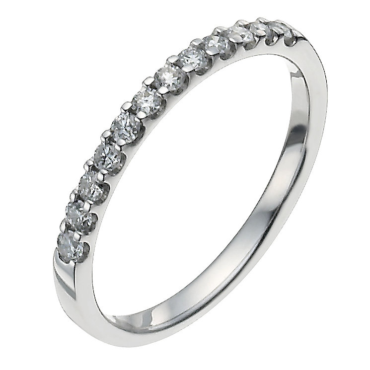 Platinum quarter carat diamond ring - Product number 9949240