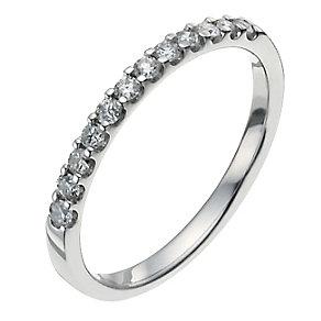 Platinum quarter carat diamond ring - Product number 9949240