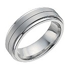 Cobalt 7mm flat matte & polished band ring - Product number 9949887