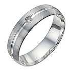 Palladium 6mm matte diamond ring - Product number 9950834