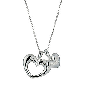 Sterling Silver Mother Daughter Pendant Necklace - Product number 9951814
