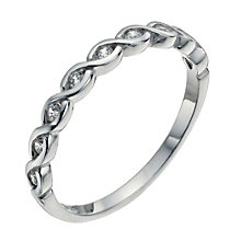 Sterling Silver & Cubic Zirconia Ring Size L - Product number 9952101