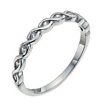 Sterling Silver & Cubic Zirconia Ring Size N - Product number 9952128