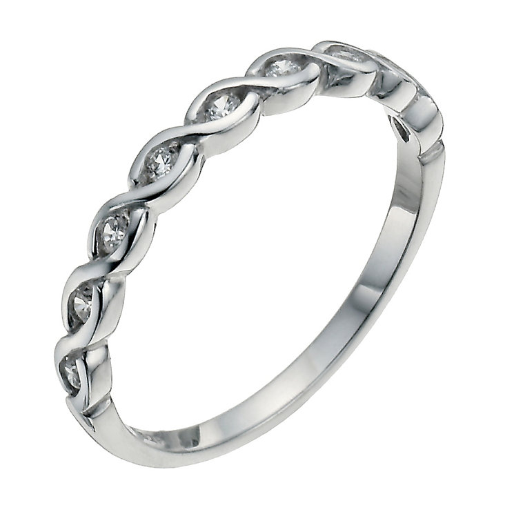 Sterling Silver & Cubic Zirconia Ring Size P - Product number 9952152