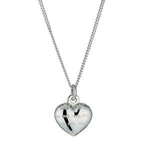 Sterling Silver My Love Heart Pendant Necklace - Product number 9952608