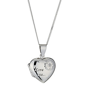 Sterling Silver Love Me Locket - Product number 9952969