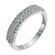 Sterling Silver & Cubic Zirconia Band Ring Size L - Product number 9953086