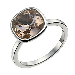 Sterling Silver Rose Crystal Ring Size N - Product number 9953213