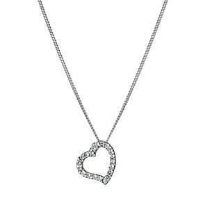 Sterling Silver Cubic Zirconia Heart Pendant - Product number 9953280