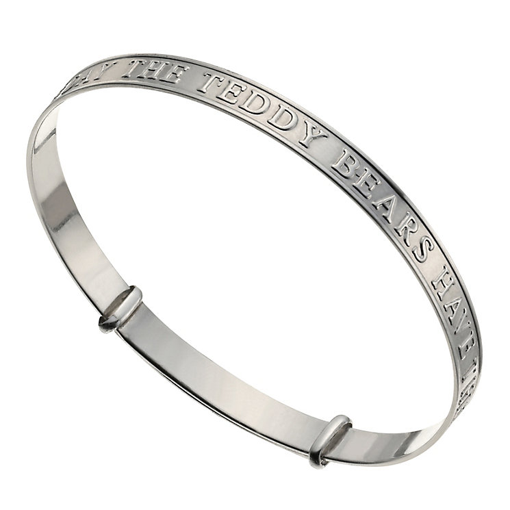 Sterling Silver Expandable Teddies Bangle - Product number 9953337