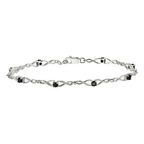 Sterling Silver Sapphire Bracelet - Product number 9953493