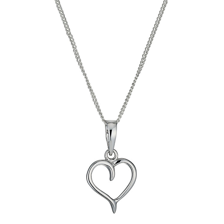 Sterling Silver Heart Pendant Necklace - Product number 9953876