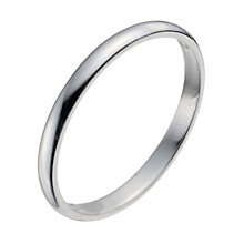 9ct White Gold Extra Heavy D Shape Ring - Product number 9954112