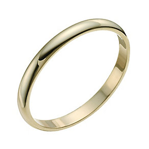 9ct Yellow Gold 2mm Extra Heavy D-shaped Ring - Product number 9954325
