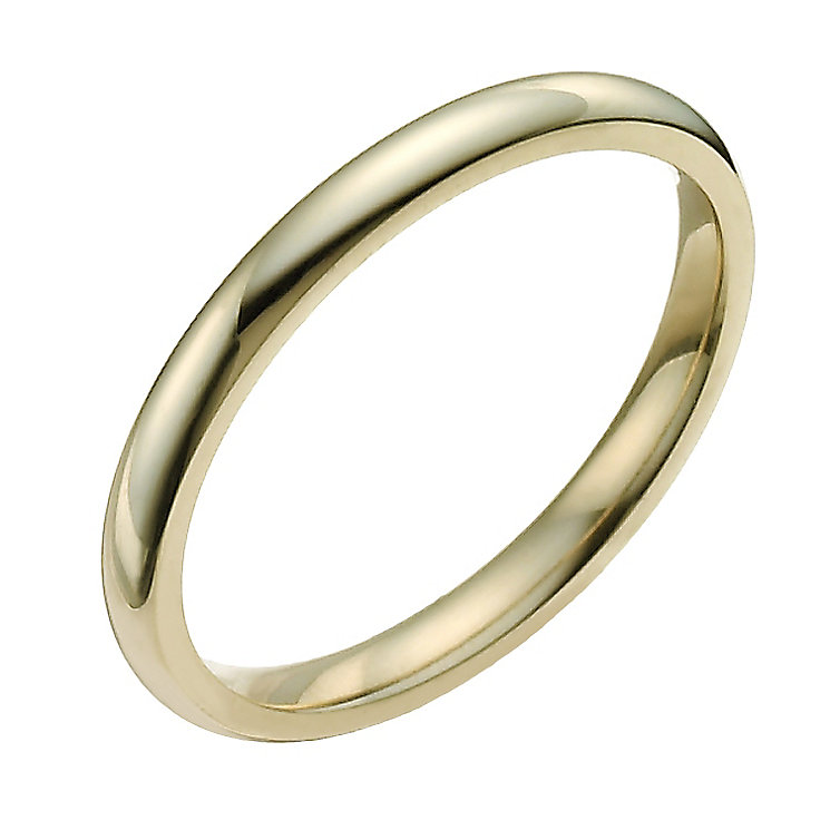 9ct Yellow Gold 2mm Super Heavy Court Ring - Product number 9954759