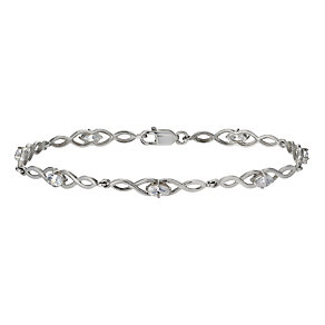 Sterling Silver & Cubic Zirconia Figure Of Eight Bracelet - Product number 9954953