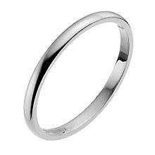18ct White Gold 2mm Extra Heavy D Shape Ring - Product number 9956085