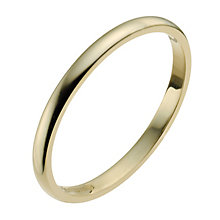 18ct Yellow Gold 2mm Heavy D Shape Ring - Product number 9956212
