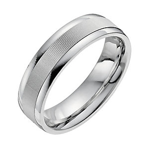 Men's Sterling Silver Patterned Ring - Product number 9956875