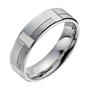 Men's Sterling Silver Patterned Ring - Product number 9957219