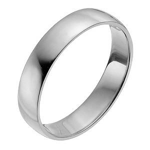 Palladium 950 4mm Extra Heavy D Shape Ring