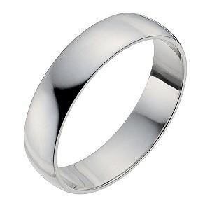 Men's Palladium 950 5mm Extra Heavy D Shape Ring