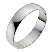 Palladium 950 5mm Extra Heavy D Shape Ring - Product number 9957790