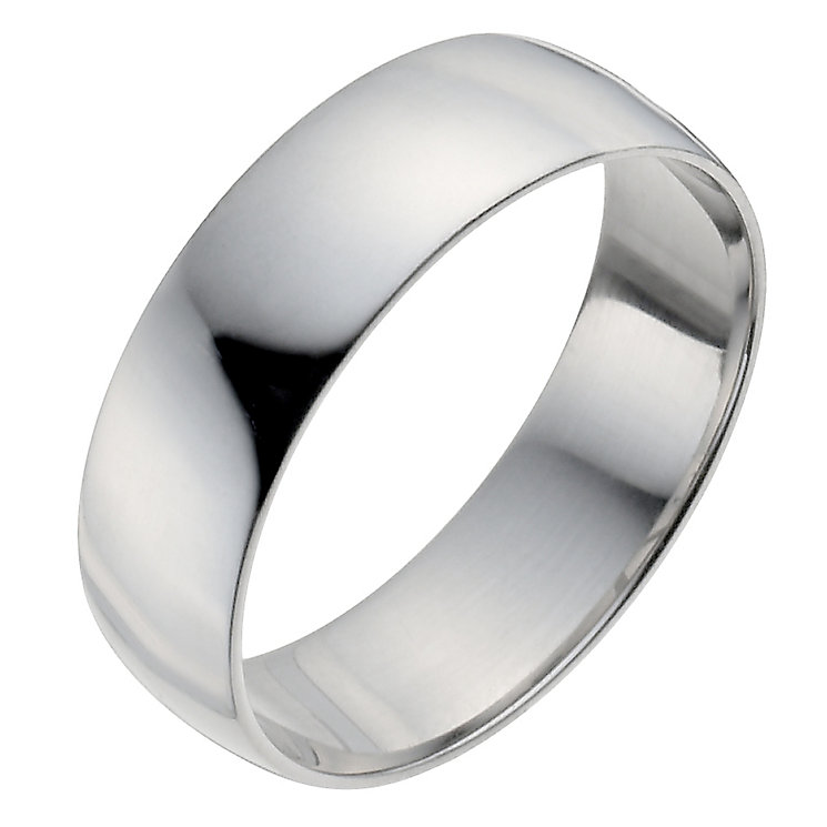 Palladium 950 6mm Extra Heavy D Shape Ring - Product number 9958002