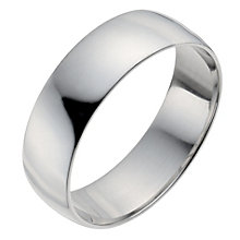 Men's Palladium 950 6mm Extra Heavy D Shape Ring - Product number 9958002