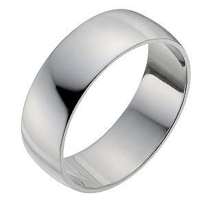 Men's Palladium 950 7mm Extra Heavy D Shape Ring