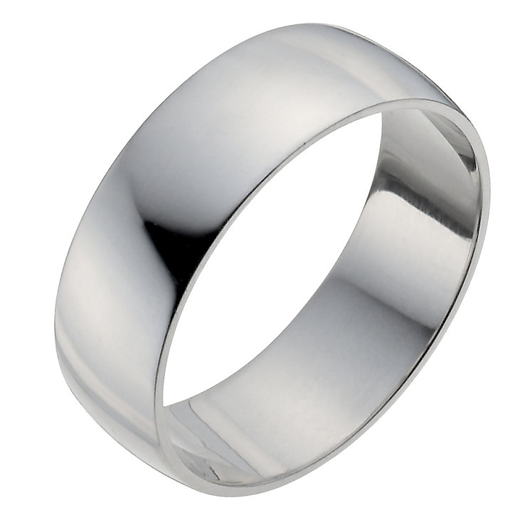 Men's Palladium 950 7mm Extra Heavy D Shape Ring - Product number 9958142