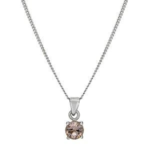 Sterling Silver Vintage Rose Pendant Necklace