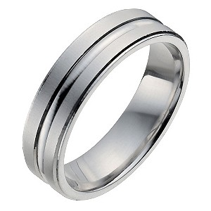 Men's Palladium 950 Matt & Polished Band Ring