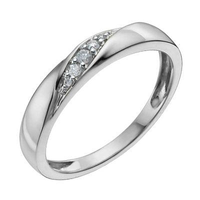 9ct White Gold Diamond Ring HSamuel