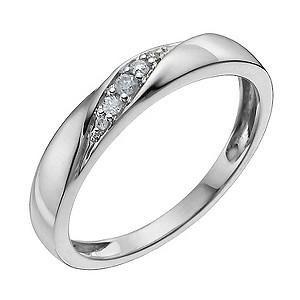 9ct White Gold Diamond Ring9ct White Gold Diamond Ring