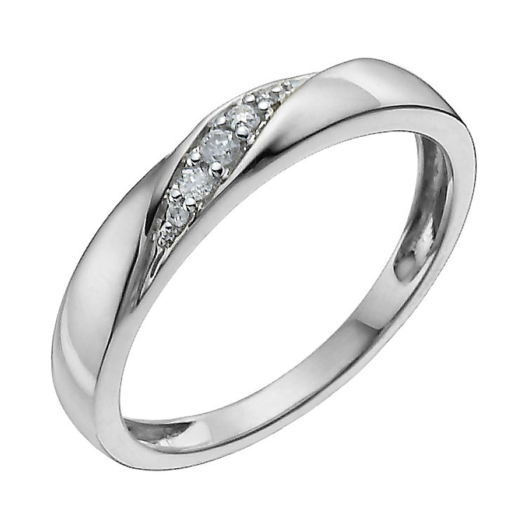 9ct White Gold Diamond Ring - Product number 9958622