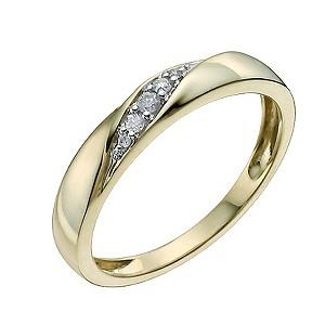 9ct Yellow Diamond Set Ring9ct Yellow Diamond Set Ring