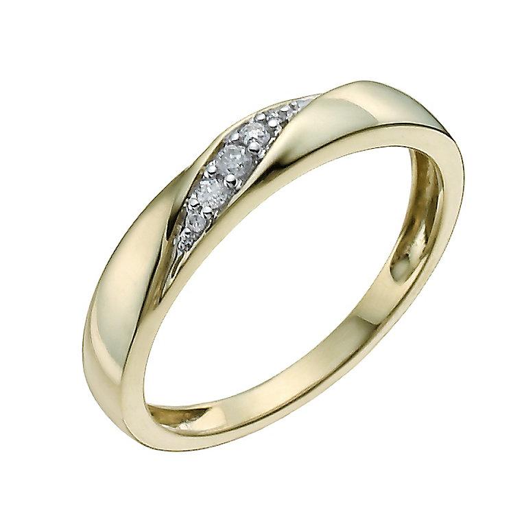 9ct yellow diamond set ring hsamuel