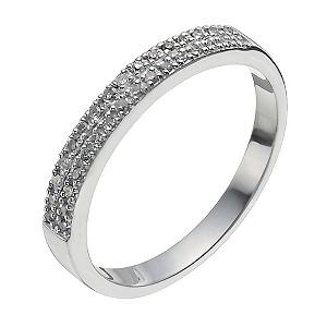 9ct White Gold 10 Point Diamond Ring